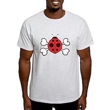 Cute Ladybug & Crossbones T-Shirt