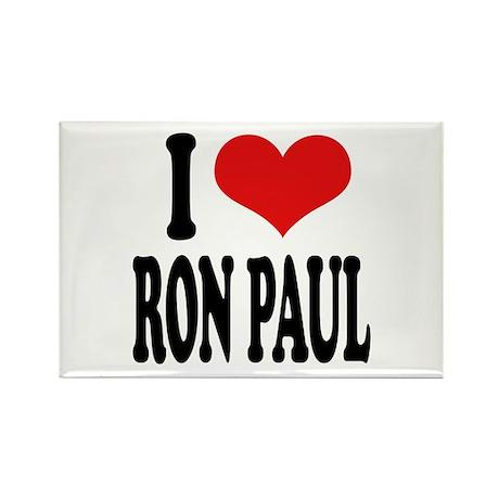 I Love Ron Paul Rectangle Magnet (10 pack)