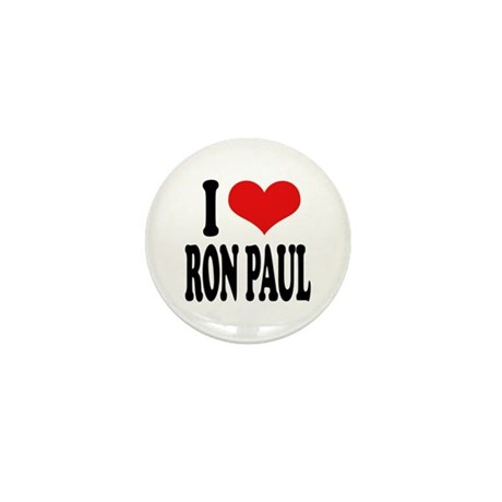 I Love Ron Paul Mini Button