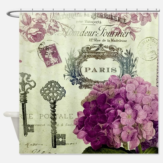 Letters From Paris Shower Curtain
