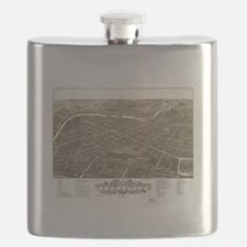 Vintage Pictorial Map of Youngstown Ohio (18 Flask