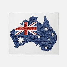 sequin australian flag Throw Blanket