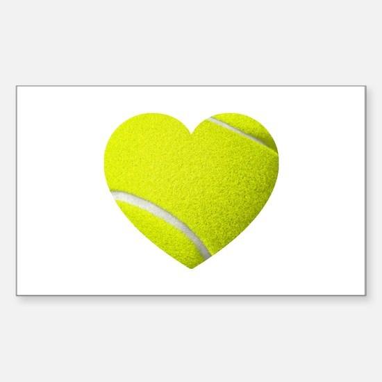 Tennis Heart Decal