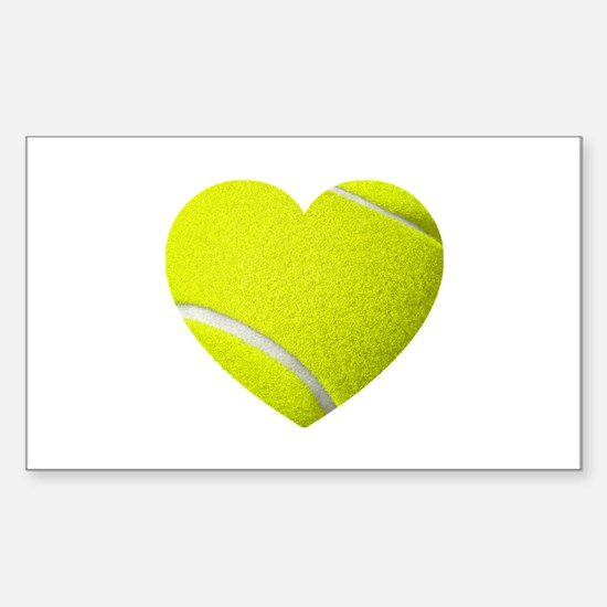 Tennis Heart Stickers
