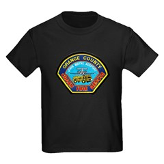 John Wayne Airport Fire Kids Dark T-Shirt