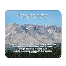 """Refuge"" Mt. St. Helen's Inspirational Mousepad"
