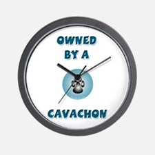 Owned by a Cavachon Wall Clock