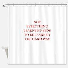 learn Shower Curtain