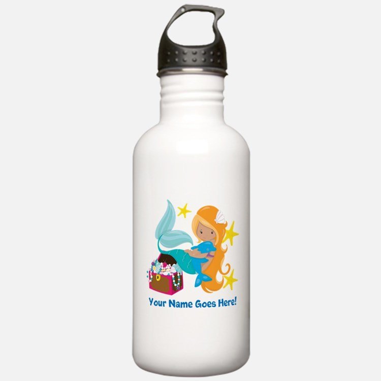 Blond Mermaid Water Bottle