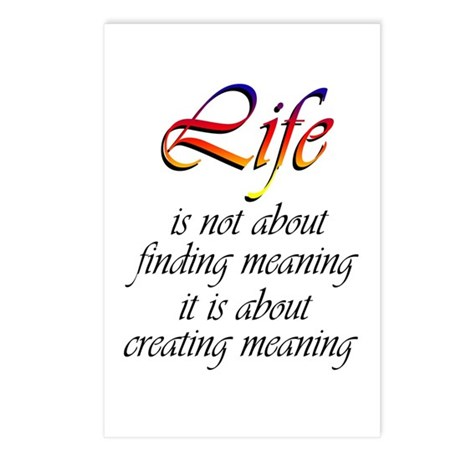 Meaning of Life Postcards (Package of 8)