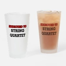 Addicted to String Quartet Drinking Glass