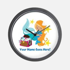 Blond Mermaid Wall Clock