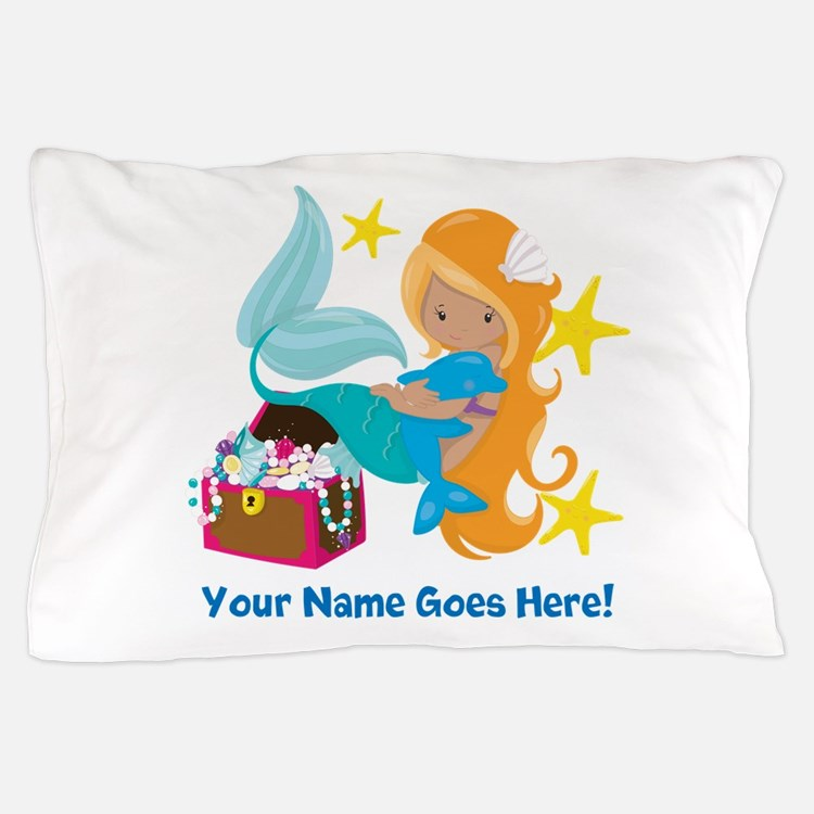 Blond Mermaid Pillow Case