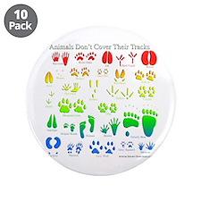 "Rainbow 3D Animal Tracks 3.5"" Button (10 pack)"
