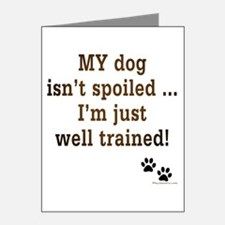 Spoiled Dog Note Cards (Pk of 20)
