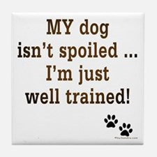Spoiled Dog Tile Coaster