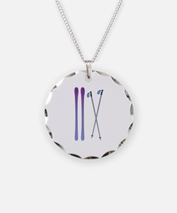 Skis & Poles Necklace