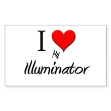 I Love My Illuminator Rectangle Decal