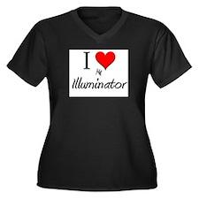 I Love My Illuminator Women's Plus Size V-Neck Dar