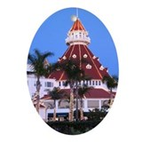Hotel del coronado christmas Oval Ornaments