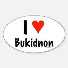 I love Bukidnon Oval Decal