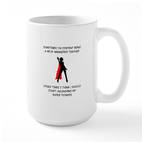 Teaching Superheroine Large Mug