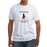 Teaching Superheroine Fitted T-Shirt