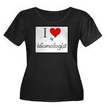 I Love My Idiomologist Women's Plus Size Scoop Nec