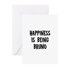 Happiness is being Bruno   Greeting Cards (Pk of 1