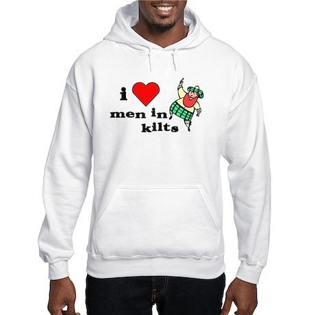 I heart men in kilts Hooded Sweatshirt