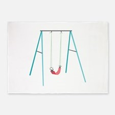 Playground Swing 5'x7'Area Rug