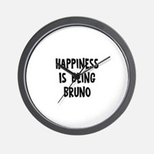 Happiness is being Bruno Wall Clock