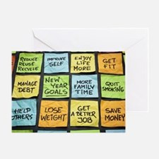 Funny New year resolution Greeting Card