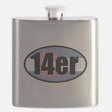 Colorado 14ers Flask