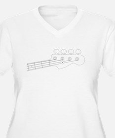 Bass Headstock Outline Plus Size T-Shirt