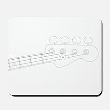 Bass Headstock Outline Mousepad