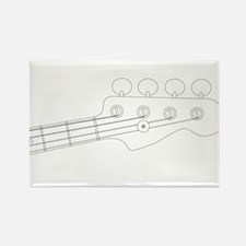 Bass Headstock Outline Magnets