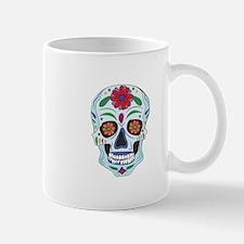 Floral Skull Mugs