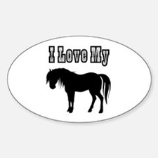 Love My Pony Oval Decal