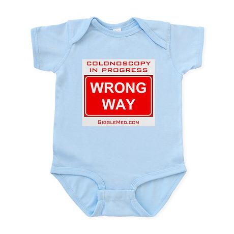 Colonoscopy Wrong Way Infant Bodysuit