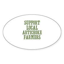 Support Local Artichoke Farme Oval Decal