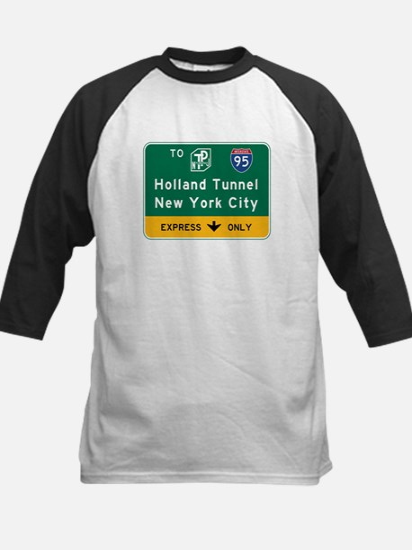 Holland Tunnel-New York City, Kids Baseball Jersey