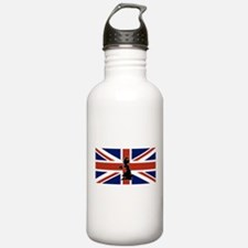 UK Silhouette and Flag Water Bottle