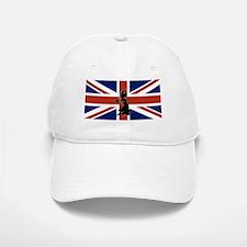 UK Silhouette and Flag Baseball Baseball Cap