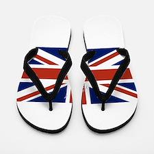 UK Silhouette and Flag Flip Flops