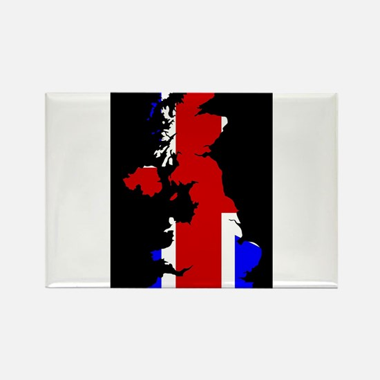 UK Flag and Silhouette Magnets