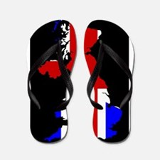 UK Flag and Silhouette Flip Flops