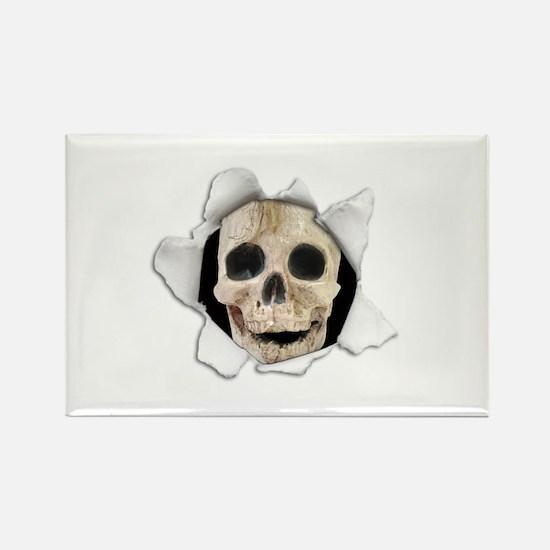 Spooky Skull Rectangle Magnet