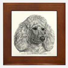 Holly, Standard Poodle Framed Tile