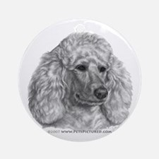 Holly, Standard Poodle Ornament (Round)